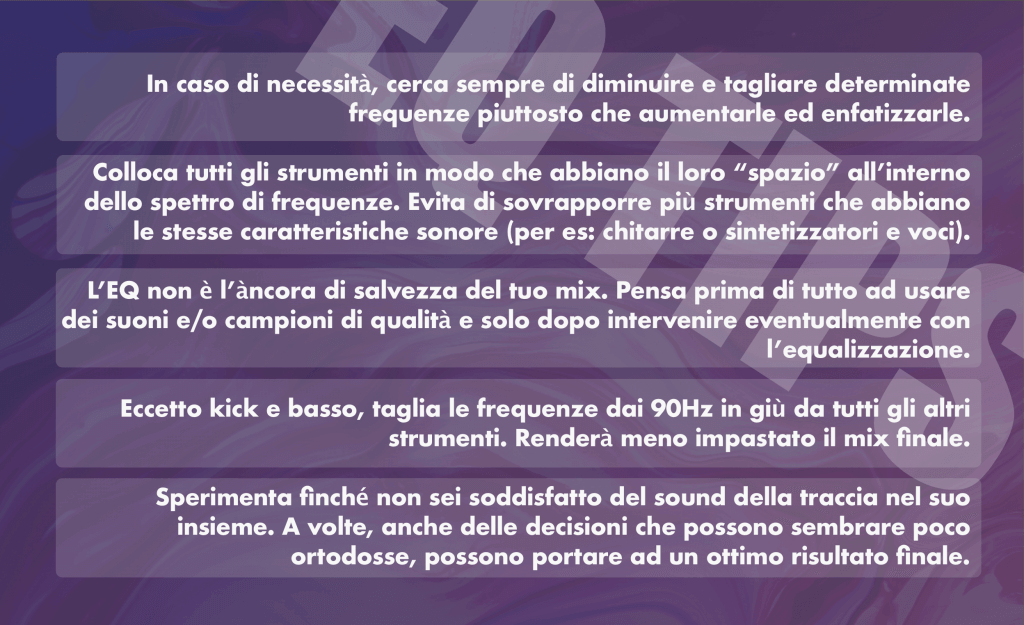 equalizzazione audio